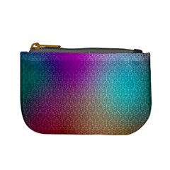 Blue And Pink Colors On A Pattern Mini Coin Purses