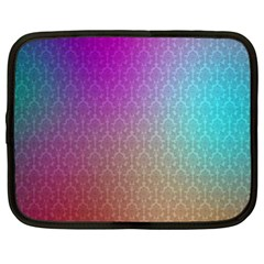 Blue And Pink Colors On A Pattern Netbook Case (xl)