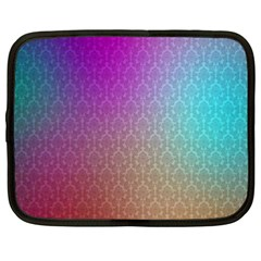 Blue And Pink Colors On A Pattern Netbook Case (xxl)