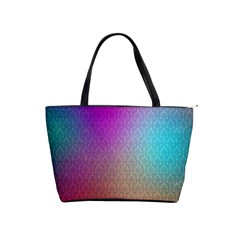 Blue And Pink Colors On A Pattern Shoulder Handbags