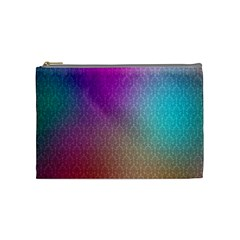 Blue And Pink Colors On A Pattern Cosmetic Bag (medium)