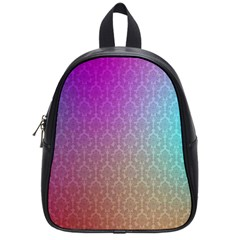 Blue And Pink Colors On A Pattern School Bags (small)