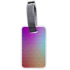 Blue And Pink Colors On A Pattern Luggage Tags (One Side)