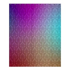 Blue And Pink Colors On A Pattern Shower Curtain 60  X 72  (medium)