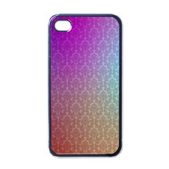 Blue And Pink Colors On A Pattern Apple Iphone 4 Case (black)