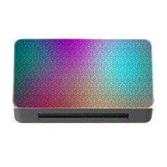 Blue And Pink Colors On A Pattern Memory Card Reader With Cf