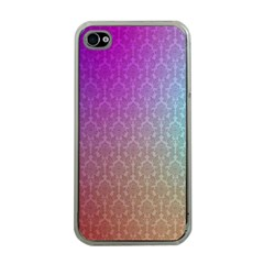 Blue And Pink Colors On A Pattern Apple Iphone 4 Case (clear)