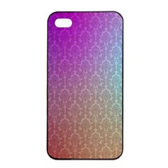 Blue And Pink Colors On A Pattern Apple Iphone 4/4s Seamless Case (black)
