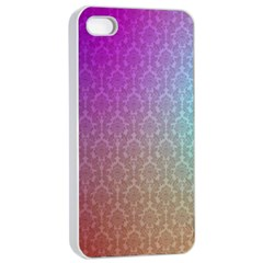 Blue And Pink Colors On A Pattern Apple Iphone 4/4s Seamless Case (white)