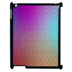 Blue And Pink Colors On A Pattern Apple Ipad 2 Case (black)