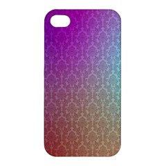 Blue And Pink Colors On A Pattern Apple Iphone 4/4s Hardshell Case