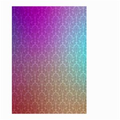 Blue And Pink Colors On A Pattern Small Garden Flag (two Sides)