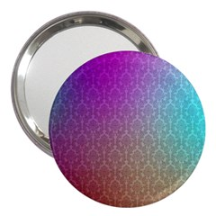 Blue And Pink Colors On A Pattern 3  Handbag Mirrors
