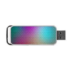 Blue And Pink Colors On A Pattern Portable Usb Flash (two Sides)