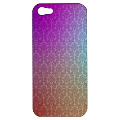 Blue And Pink Colors On A Pattern Apple Iphone 5 Hardshell Case