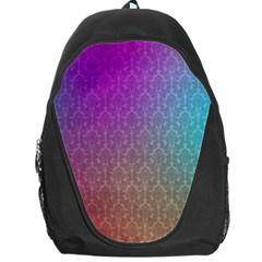Blue And Pink Colors On A Pattern Backpack Bag