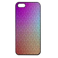 Blue And Pink Colors On A Pattern Apple Iphone 5 Seamless Case (black)