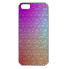 Blue And Pink Colors On A Pattern Apple Seamless Iphone 5 Case (clear)