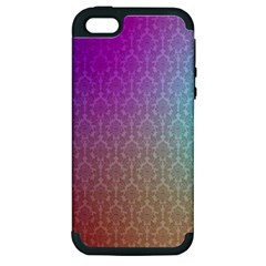 Blue And Pink Colors On A Pattern Apple Iphone 5 Hardshell Case (pc+silicone)