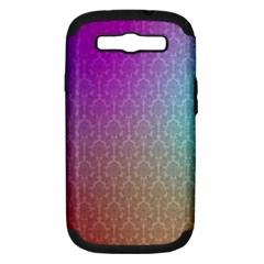 Blue And Pink Colors On A Pattern Samsung Galaxy S Iii Hardshell Case (pc+silicone)