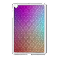 Blue And Pink Colors On A Pattern Apple Ipad Mini Case (white)