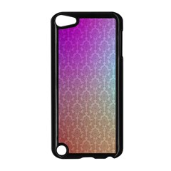 Blue And Pink Colors On A Pattern Apple Ipod Touch 5 Case (black)