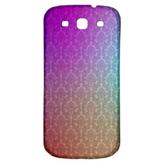Blue And Pink Colors On A Pattern Samsung Galaxy S3 S Iii Classic Hardshell Back Case