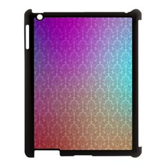 Blue And Pink Colors On A Pattern Apple Ipad 3/4 Case (black)