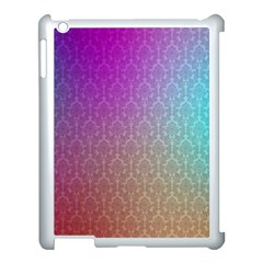 Blue And Pink Colors On A Pattern Apple Ipad 3/4 Case (white)