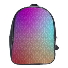 Blue And Pink Colors On A Pattern School Bags (XL)