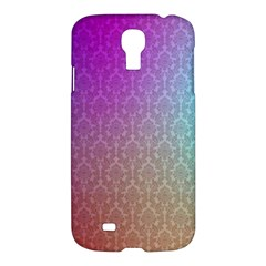 Blue And Pink Colors On A Pattern Samsung Galaxy S4 I9500/i9505 Hardshell Case