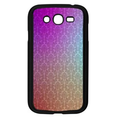 Blue And Pink Colors On A Pattern Samsung Galaxy Grand Duos I9082 Case (black)