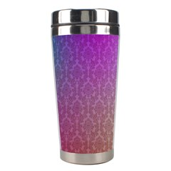 Blue And Pink Colors On A Pattern Stainless Steel Travel Tumblers