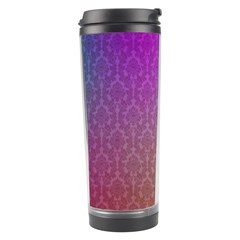 Blue And Pink Colors On A Pattern Travel Tumbler