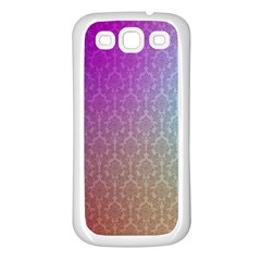 Blue And Pink Colors On A Pattern Samsung Galaxy S3 Back Case (white)