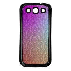 Blue And Pink Colors On A Pattern Samsung Galaxy S3 Back Case (black)