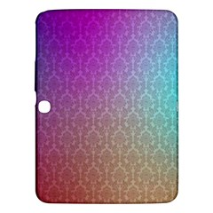Blue And Pink Colors On A Pattern Samsung Galaxy Tab 3 (10 1 ) P5200 Hardshell Case