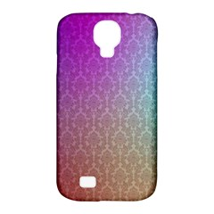 Blue And Pink Colors On A Pattern Samsung Galaxy S4 Classic Hardshell Case (pc+silicone)