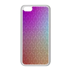 Blue And Pink Colors On A Pattern Apple Iphone 5c Seamless Case (white)