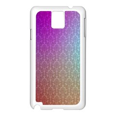Blue And Pink Colors On A Pattern Samsung Galaxy Note 3 N9005 Case (white)
