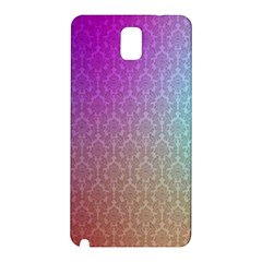 Blue And Pink Colors On A Pattern Samsung Galaxy Note 3 N9005 Hardshell Back Case