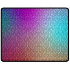 Blue And Pink Colors On A Pattern Double Sided Fleece Blanket (medium)