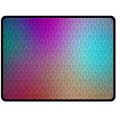 Blue And Pink Colors On A Pattern Double Sided Fleece Blanket (large)