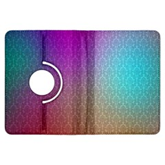 Blue And Pink Colors On A Pattern Kindle Fire Hdx Flip 360 Case