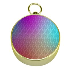 Blue And Pink Colors On A Pattern Gold Compasses