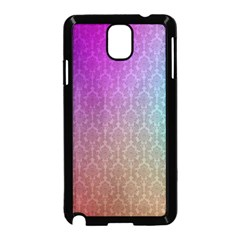 Blue And Pink Colors On A Pattern Samsung Galaxy Note 3 Neo Hardshell Case (black)