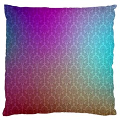 Blue And Pink Colors On A Pattern Large Flano Cushion Case (one Side)