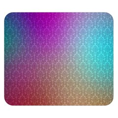 Blue And Pink Colors On A Pattern Double Sided Flano Blanket (small)