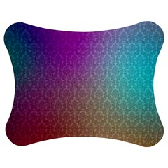 Blue And Pink Colors On A Pattern Jigsaw Puzzle Photo Stand (bow)
