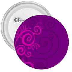 Floraly Swirlish Purple Color 3  Buttons